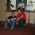 Nekho i Jabbas na korytarzu